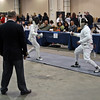 Seth Flanagan (right) in the Cadet Men's Epee.