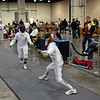 Alexis Sandler (right) in the Youth-14 Women's Epee.