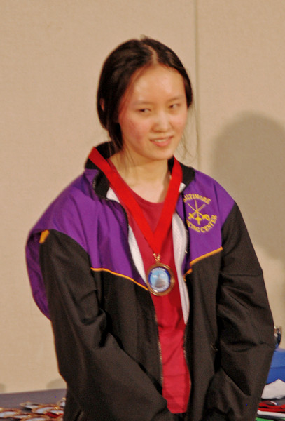 Annie Yang, 3rd Place, Cadet Women's Epee.