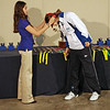 Katherine Sizov receives her 3rd place medal in Cadet Women's Epee.