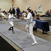 Raphael Hviding (right) in the Cadet Men's Epee.