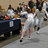 Elizabeth Wiggins scores in the Cadet Women's Epee.