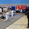 Julia Smith (left) in the Y12 Women's Epee.