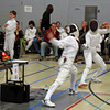 Carolyn Townsend (left) in the Y14 Women's Epee.