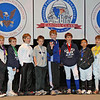 The finalists in Y10 Men's Epee.  From left: Carter Tate (8th), Ethan Green (6th), Christopher Parcel (3rd), Nicolas Wilson (2nd), Sean Wilson (1st), Elias Cole (3rd), Tristan Yang (5th), and Benjamin Farber (7th).