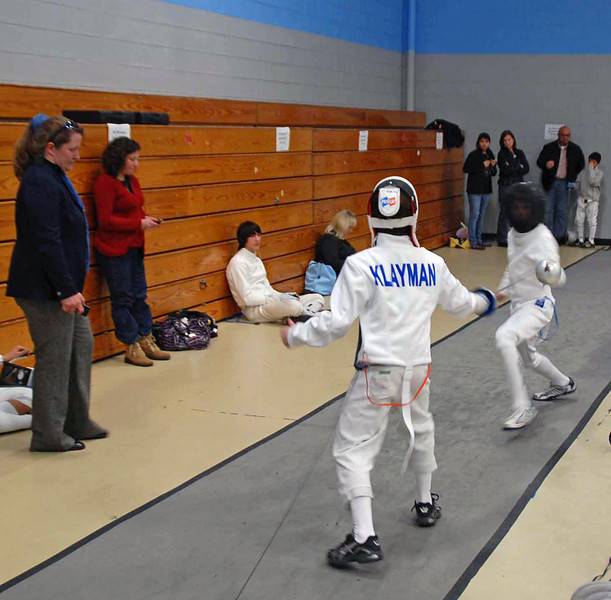 Zachary Klayman in the Y14 Men's Epee.