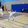 Emma Morrison (right) in the Y12 Women's Epee.