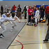 Olivia Morreale (left) in the Y14 Women's Epee.