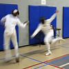 Sam Hayden in the Y14 Men's Epee.