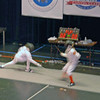 Carter Tate (left) in the Y10 Men's Epee.