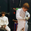 Jacob Roberts hooks up to the reel in the Y12 Men's Epee.