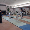 Jared Rosen (left) in the Y12 Men's Epee.