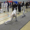 Cameron Sullivan (left) in the Y12 Men's Epee.
