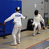 Raphael Hviding in the Y14 Men's Epee.