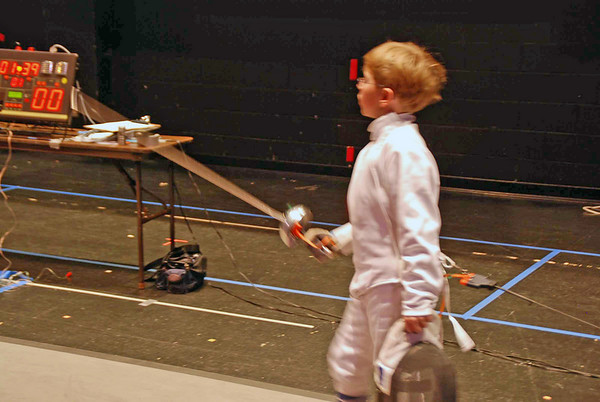 Carter Tate in the Y12 Men's Epee.