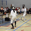 Carolyn Townsend (right) in the Y14 Women's Epee.