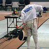 Rory Hagerty in the Y10 Men's Epee.
