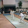 Rory Hagerty (right) in the Y10 Men's Epee.
