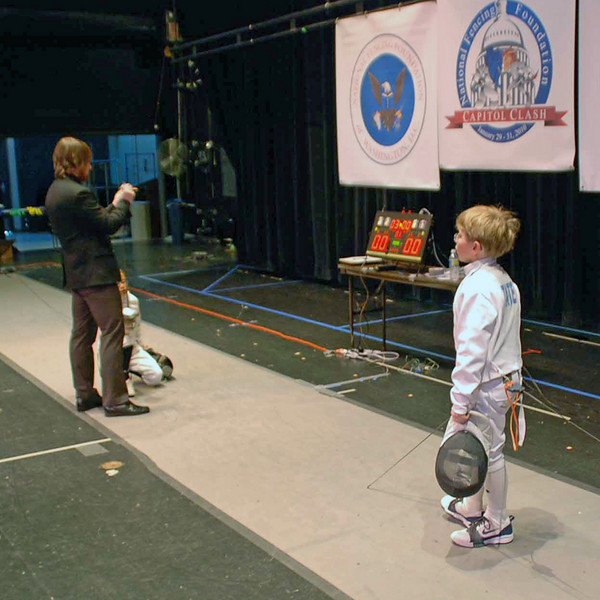 Carter Tate in the Y10 Men's Epee.