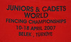 2007 Jr & Cadet World Championships Belek Turkey-back