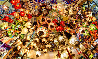 Lamps in the Grand Bazaar, Istanbul, Turkey