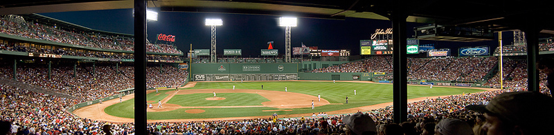 Fenway Park  Pano from Section 16<br /> Fenway Park  Pano from Section 16