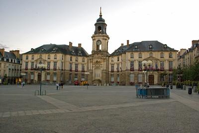 Place de la Mairie, Rennes - Ráðhús og ópera