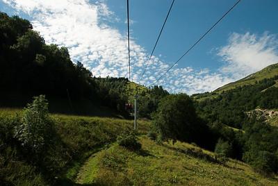 Á leið upp í Les Deux-Alpes