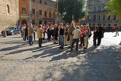 Fyrir utan dómkirkjuna í Toledo