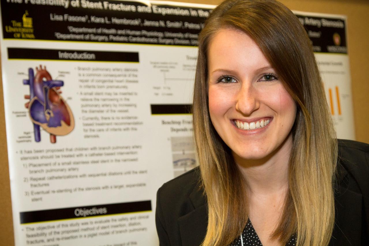 Ferentz Undergrad Research Fellowship Winners_stu_Lisa Fasone_2015_4888