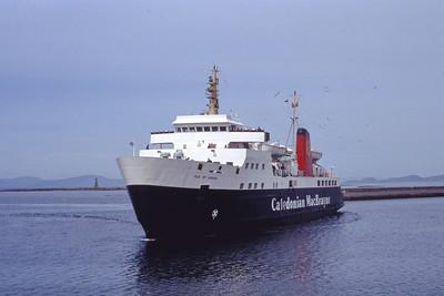 Caledonian MacBrayne MV Isle of Arran approaching Ardrossan 2 Jul 92