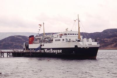 Caledonian MacBrayne MV Iona Tighnabruaich Pier Apr 93