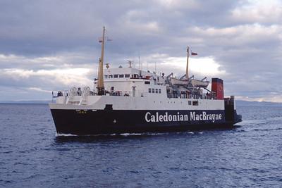 Caledonian MacBrayne MV Iona approaching Brodick Feb 93