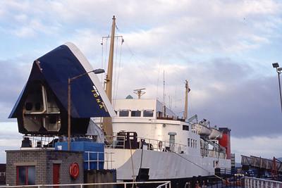 Caledonian MacBrayne MV Iona Adrossan Harbour Feb 93