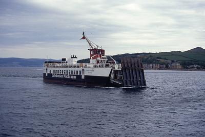 Caledonian MacBrayne MV Loch Striven approaching Largs May 94