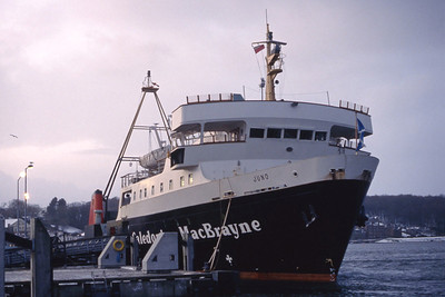 Caledonian MacBrayne MV Juno Rothesay Pier Jan 93