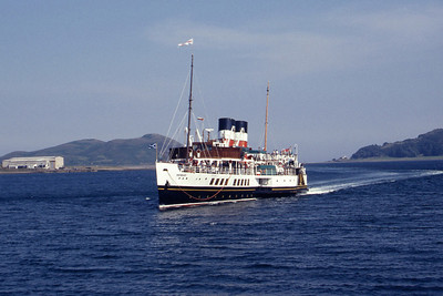 Paddle Steamer Presrvation Society PS Waverley approaching Campbelltown 1 Aug 95