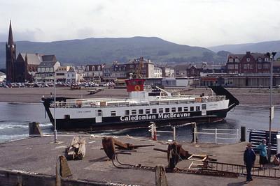 Caledonian MacBrayne MV Lioch Linnhe approaching Largs Jul 94