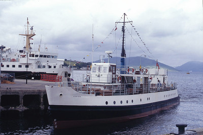 Inverclyde Marina MV Clyde Rose Rothesay Harbour Aug 93