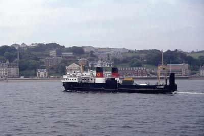 Caledonian MacBrayne MV Pioneer approaching Rothesay Jul 94
