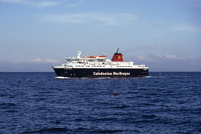 Caledonian MacBrayne MV Caledonian Isles appraching Brodick Sep 93