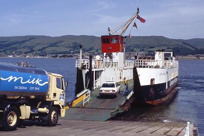 Caledonian MacBrayne MV Loch Linnhe Cumbrae Slip Jul 92