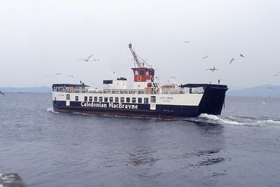 Caledonian MacBrayne MV Loch Linnhe Largs May 91