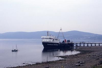 Caledonian MacBrayne MV Jupiter Tighnabruaich Pier Jul 93