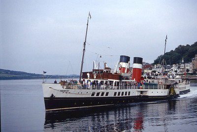 Paddle Steam Preservation Society PS Waverley approaching Rothesay Aug 93
