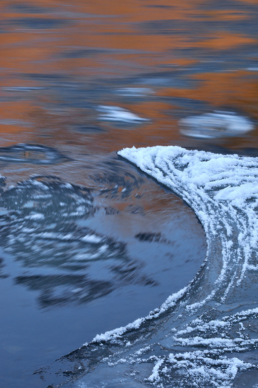 Ice Flows on the River Tay