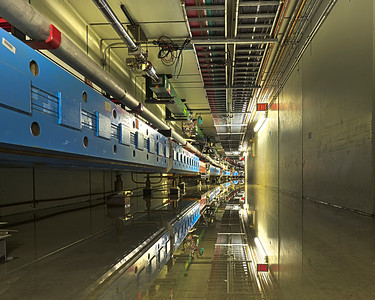 A flooded section of Main Injector Tunnel: Magnets and Reflection