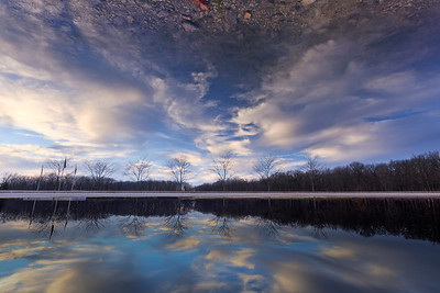 Inverted & horizontally transposed Reflecting Pond - Fermilab; Dec. 2012