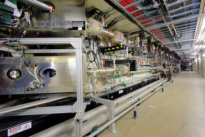 A picture of the Main Injector and Recycler electron cooling section during the collider Run-II.