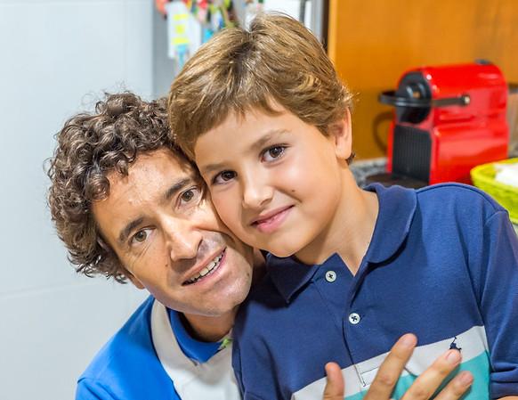 Photos of Fernando, Marcos, Fernando Jr, and Barbara at their house in Denia, Alicante, Spain.